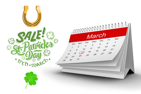 saint patty: Shamrock against st patricks day sale ad