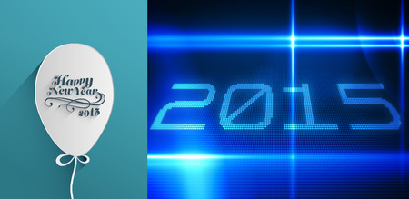 classy: Classy new year greeting against 2015 on tech background