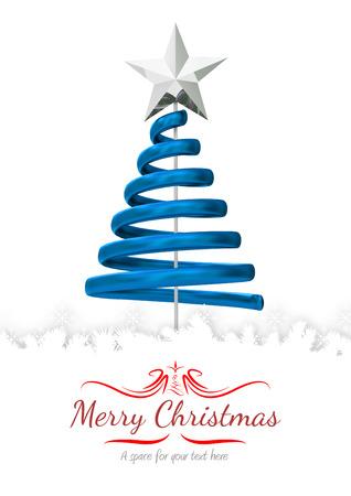 merry christmas: border against merry christmas Stock Photo