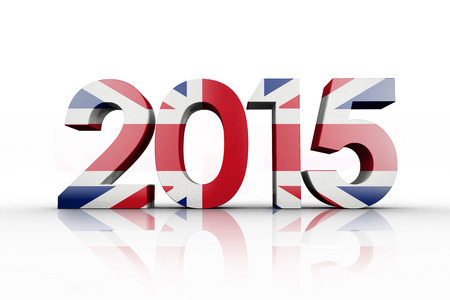 great britain: Great britain national flag against 2015 Stock Photo