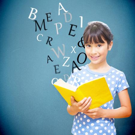 pupil: happy pupil against blue background