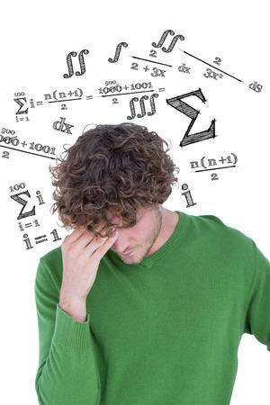 equation: Thinking man against maths equation