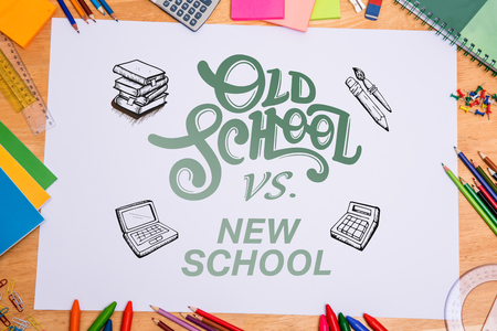 parer: school doodles against students desk