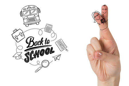 posed: Fingers posed as students against back to school