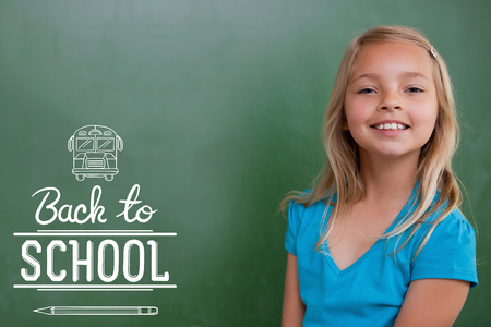 pupil: back to school against cute pupil smiling