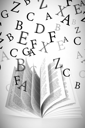 vignette: letters against white background with vignette