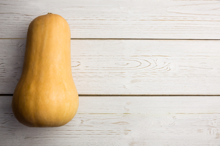 butternut squash: Butternut squash on table shot in studio Stock Photo