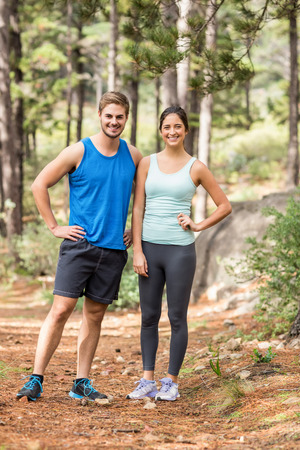 joggers: Happy joggers standing in the nature