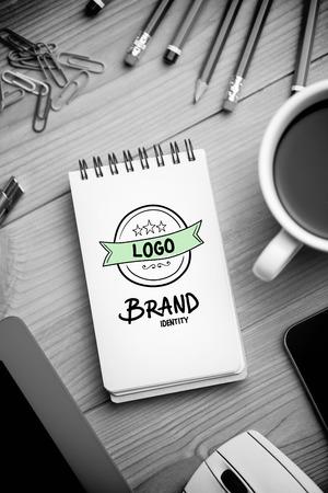 brand identity: brand identity doodle against notepad on desk
