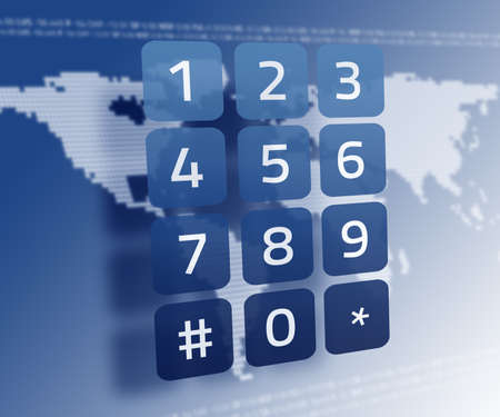 mapas conceptuales: teclado digital en el mapa del mundo en azul LANG_EVOIMAGES