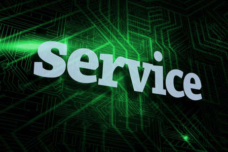 buzzword: The word service against green and black circuit board LANG_EVOIMAGES
