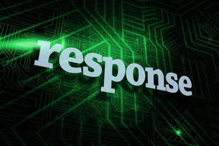 response: The word response against green and black circuit board