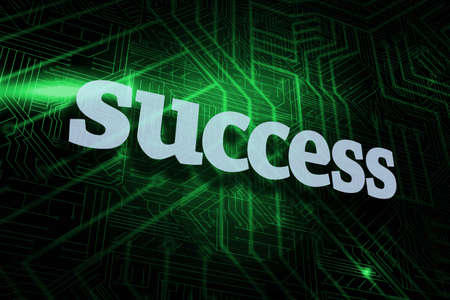 accomplishments: The word success against green and black circuit board LANG_EVOIMAGES