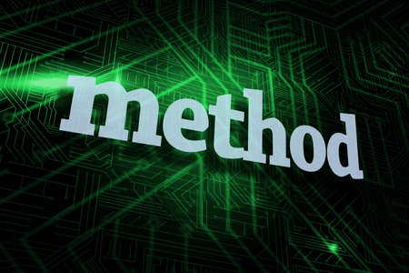 buzzword: The word method against green and black circuit board