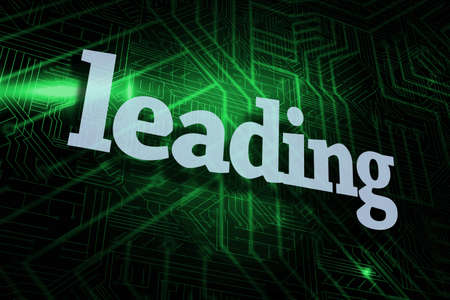 buzzword: The word leading against green and black circuit board LANG_EVOIMAGES