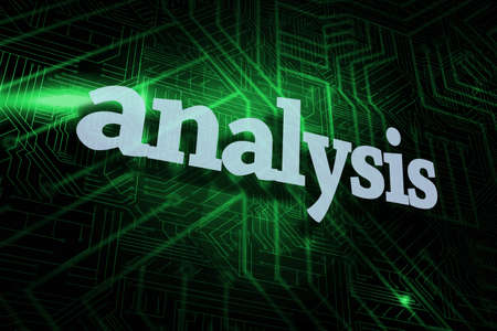 buzzword: The word analysis against green and black circuit board
