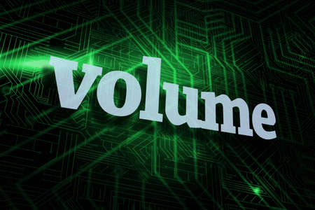 buzzword: The word volume against green and black circuit board