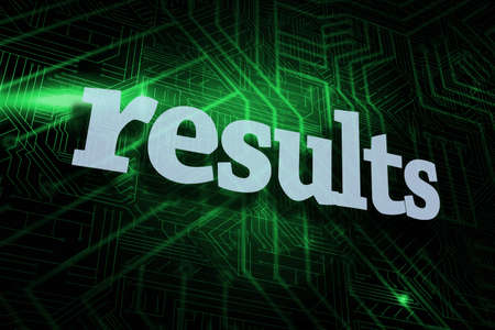 proceeds: The word results against green and black circuit board