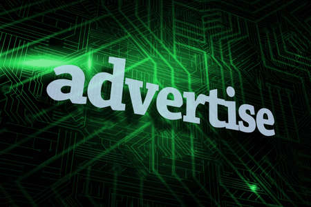advertise: The word advertise against green and black circuit board LANG_EVOIMAGES