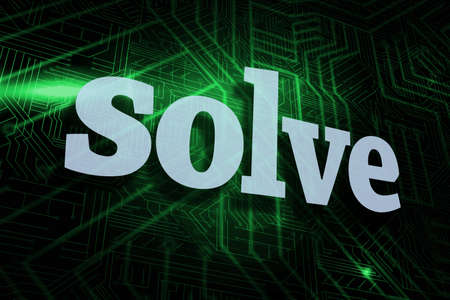 solve: The word solve against green and black circuit board