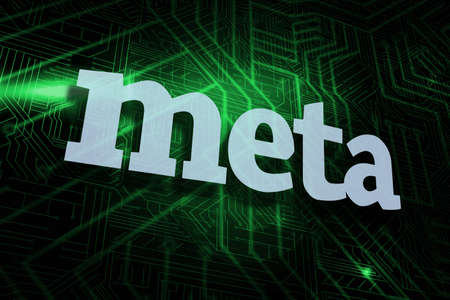meta: The word meta against green and black circuit board