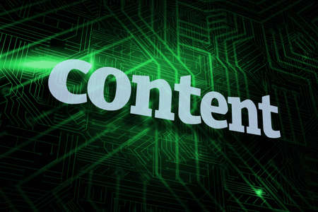 buzzword: The word content against green and black circuit board