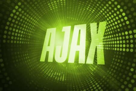 ajax: The word ajax against green pixel spiral LANG_EVOIMAGES