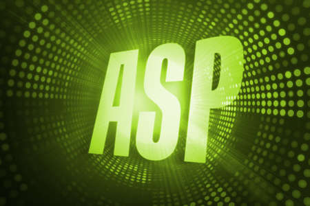 asp: The word asp against green pixel spiral