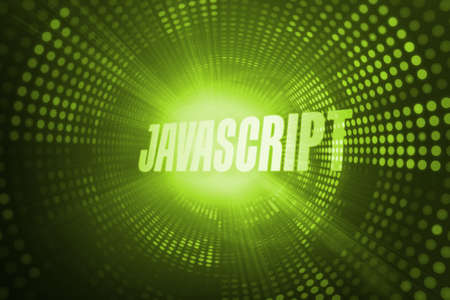 javascript: The word javascript against green pixel spiral LANG_EVOIMAGES