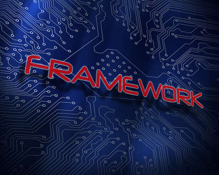 proportionate: The word framework against blue technology background
