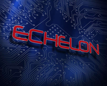 The word echelon against blue technology background LANG_EVOIMAGES