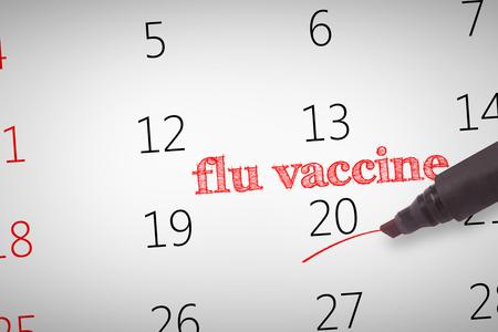 flu vaccine: Black marker against flu vaccine Stock Photo