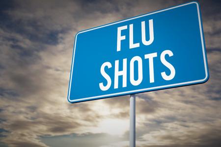 flu shots: flu shots against cloudy sky