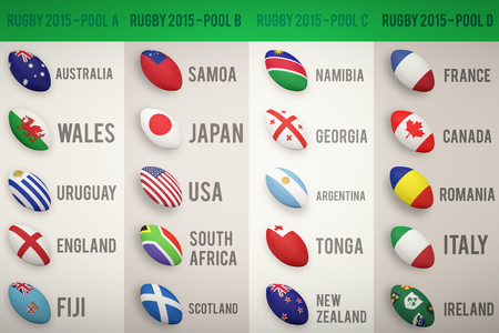 world cup: Rugby world cup pools from A to D