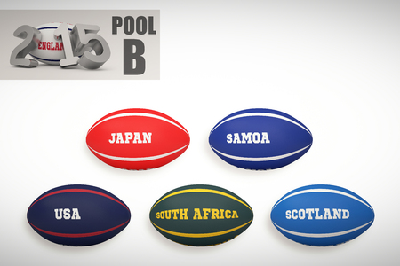 b ball: England rugby 2015 message  against rugby world cup pool b Stock Photo