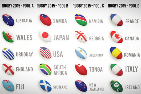 b ball: Rugby world cup pools from A to D