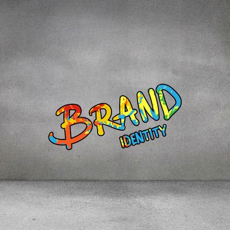 brand identity: brand identity against grey room