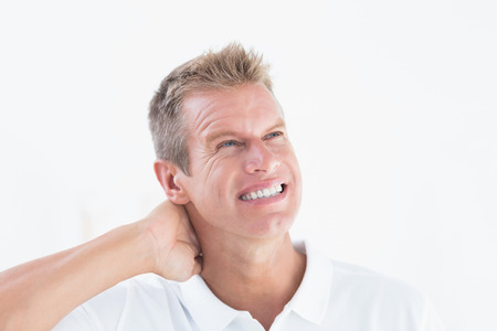doctor with headache in medical office