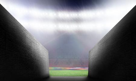 t�nel: Arena t�nel contra estadio de rugby Foto de archivo
