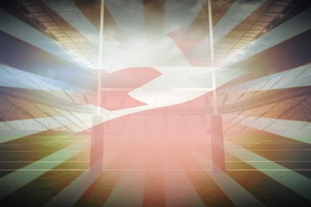 tonga: Waving Tonga flag against linear design