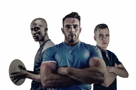 tough: Group of Tough rugby players standing together