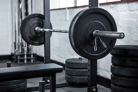 gritty: Exercise equipment in the studio at crossfit gym