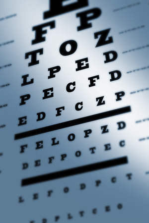 sight chart: An eye sight test chart with multiple lines