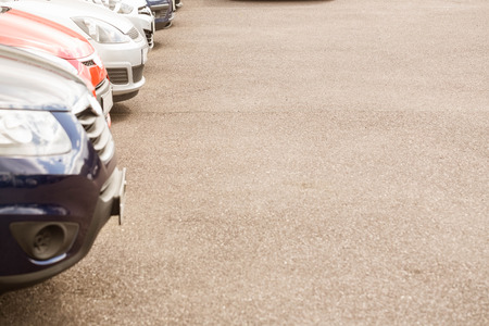 car showroom: View of row new car at new car showroom