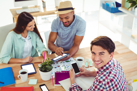 office: Young creative team working together in casual office