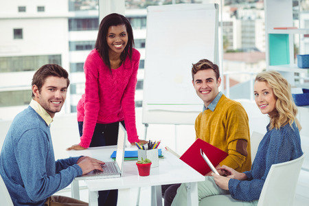 Creative business team working together in casual office Stock Photo
