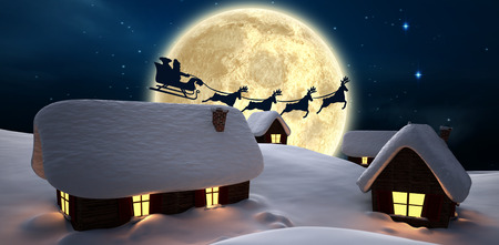 christmas house: Santa delivery presents to village