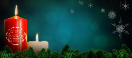 spot lit: Christmas greeting  against orange abstract light spot design Stock Photo
