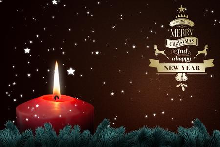 dark brown background: Christmas greeting  against dark brown background Stock Photo