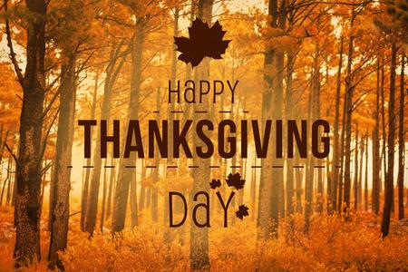 Thanksgiving contre scène d'automne